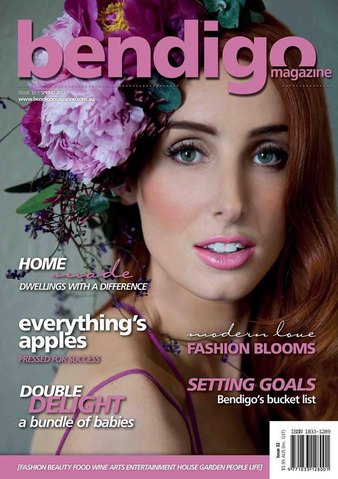 Bendigo Magazine, Spring 2013  Photography: Terri Basten MUA & Styling : Katarina McNeil  Hair: Honeyeater Bendigo Flowers : Ame Gaschk Raven & The Rose